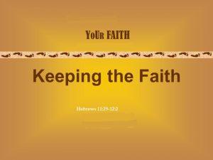 """""""Keeping Faith"""" ( August 14, 2016 )"""