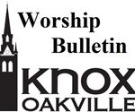April 22nd Worship Bulletin